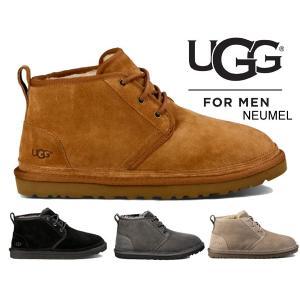 アグ UGG メンズ ニューメル  UGG Men'S NEUMEL SUEDE CHUKKA BOOTS 3236 ムートン チャッカーブーツ メンズ ブーツ ブラック チェスナット チャコール|ltd-online