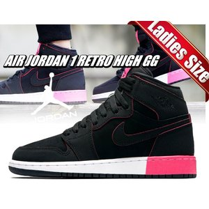 NIKE AIR JORDAN 1 RETRO HIGH GG blk/blk-hyper pink...
