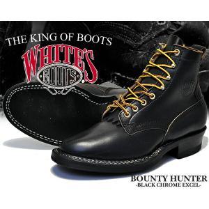 ホワイツ ブーツ バウンティハンター White's Boots Bounty Hunter 350W Black Horween Chromexcelブラック メンズ ワーク ブーツ 6インチ セミドレス|ltd-online
