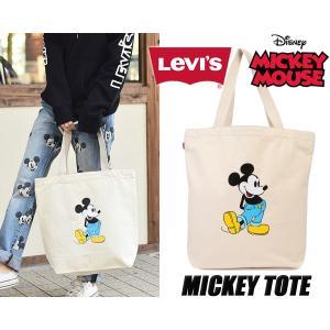 リーバイス ミッキー トートバッグ LEVIS MICKEY GRAPHIC TOTE BAG NATURAL トート カバン キャンバス ミッキーマウス|ltd-online