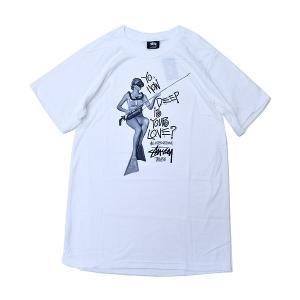 ステューシー Tシャツ STUSSY HOW DEEP IS YOUR LOVE? TEE WHITE 3903414 ホワイト T-シャツ 白|ltd-online