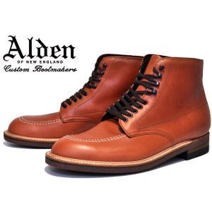 オールデン ALDEN 405 インディブーツ ALDEN Indy Boots 405  BROWN 茶 メンズ ブーツ レースアップ|ltd-online