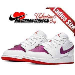 ナイキ エアジョーダン 1 ロー レディース NIKE AIR JORDAN 1 LOW GS Valentines Day white/true berry-rush pink 554723-161 スニーカー AJ1 バレンタイン|ltd-online