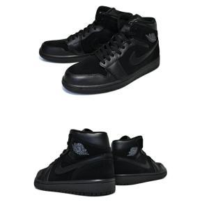 ナイキ NIKE エアジョーダン 1 ミッド NIKE AIR JORDAN 1 MID black/dark grey-black スニーカー AJ ブラック 黒|ltd-online|03