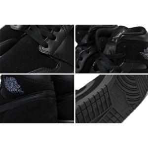 ナイキ NIKE エアジョーダン 1 ミッド NIKE AIR JORDAN 1 MID black/dark grey-black スニーカー AJ ブラック 黒|ltd-online|04