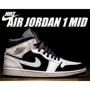NIKE AIR JORDAN 1 MID white/black-white  バスケットボールの...