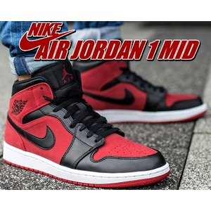 NIKE AIR JORDAN 1 MID gym red/black-white  バスケットボー...