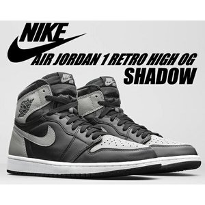"NIKE AIR JORDAN 1 RETRO HI OG ""SHADOW"" black/mediu..."