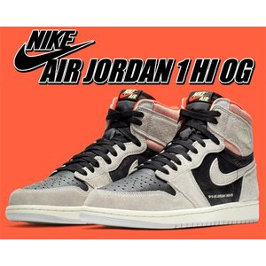 NIKE AIR JORDAN 1 HI OG neutral grey/black-hyper c...