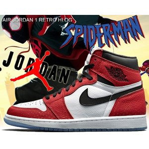 "NIKE AIR JORDAN 1 RETRO HI OG SPIDER-MAN ""ORIGIN S..."