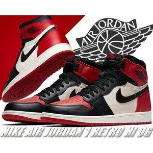 "NIKE AIR JORDAN 1 RETRO HIGH OG ""BRED TOE"" gym red..."