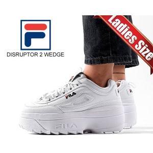 フィラ ディスラプター 2 ウェッジ FILA DISRUPTOR 2 WEDGE WHITE/FNVY/FRED 5fm00704-125 スニーカー 厚底 ホワイト レディース ウィメンズ チャンキー ltd-online