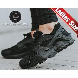 ナイキ スニーカー エア ハラチ レディース NIKE HUARACHE RUN(GS)  TRIPLE BLACK black/black-black 654275-016 スニーカー ガールズ ウィメンズ ALLBLACK ltd-online
