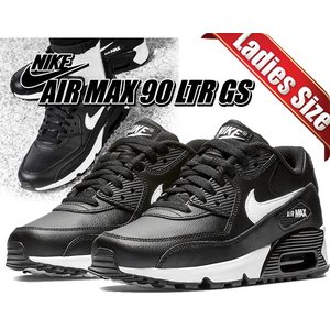 ナイキ エアマックス 90 LTR GS NIKE AIR MAX 90 LTR(GS) black...