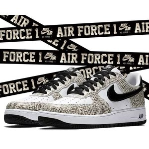 "NIKE AIR FORCE 1 LOW RETRO ""COCOA SNAKE 白蛇"" true w..."