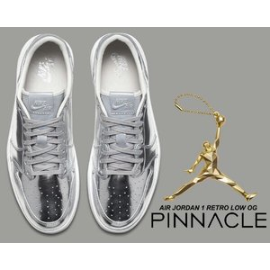 NIKE AIR JORDAN 1 RETRO LOW OG PINNACLE m.slv/wht ...
