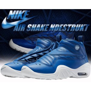 ナイキ スニーカー エアシェイク インデストラクト NIKE AIR SHAKE NDESTRUKT blue jay/blue jay-summit white|ltd-online