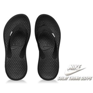 NIKE SOLAY THONG(GS/PS)black/white 882827-001  先進的...