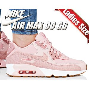 ナイキ エアマックス 90 NIKE AIR MAX 90 LTR SE GG coral stardust/rust pink-white 897987-601 スニーカー レディース ウィメンズ キッズ ピンク アニマル柄|ltd-online