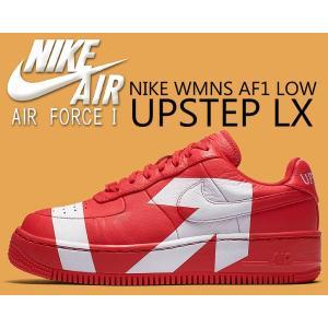 ナイキ ウィメンズ AF1 アップステップ NIKE WMNS AF1 UPSTEP LX university red/university red 898421-601 スニーカー レディース AIR FORCE 1 レッド|ltd-online