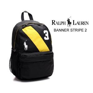 ポロ ラルフローレン バナーストライプ バックパック Polo Ralph Lauren BANNER STRIPE 2 950080 BLK/YELLOW リュック ブラック|ltd-online