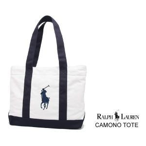 ポロ ラルフローレン カミノ トート Polo Ralph Lauren CAMONO TOTE 950316A WHITE NAVY ホワイト ネイビー|ltd-online