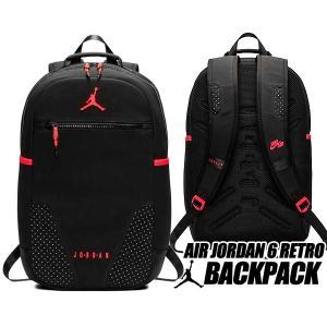 ナイキ ジョーダン 6 バックパック NIKE JORDAN RETRO 6 BACKPACK black/infrared 9a0259-kr6 リュック AJVI カバン バッグ PCスリーブ インフラレッド|ltd-online