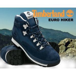 ティンバーランド ユーロハイカー Timberland EURO HIKER F/L navy ハイキングブーツ ネイビー スウェード ウォータープルーフ メンズ ブーツ メンズ ハイキング|ltd-online