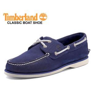 ティンバーランド クラシック デッキシューズ Timberland CLASSIC BOAT SHOE DARK BLUE NUBUCK TB 0A1ZTZ シューズ ボート ダークブルー ヌバック|ltd-online