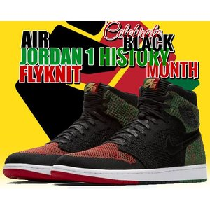 2e81f50cb72d ナイキ エア ジョーダン 1 フライニット BHM NIKE AIR JORDAN 1 RETRO HI FLYKNIT BHM black black-pine  green スニーカー メンズ ブラックヒストリーマンス
