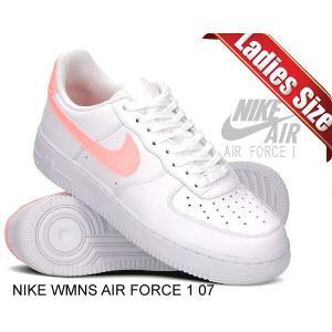 ナイキ ウィメンズ エアフォース 1 07 NIKE WMNS AIR FORCE 1 07 white/oracle pink-white ah0287-102 スニーカー レディース ホワイト ピンク|ltd-online