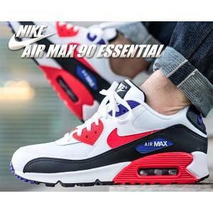 ナイキ エアマックス 90 NIKE AIR MAX 90 ESSENTIAL white/red ...