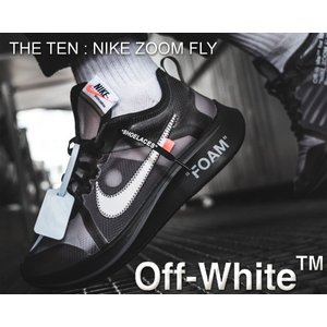 THE 10 : NIKE ZOOM FLY OFF-WHITE black/white-cone-...