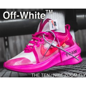 THE 10 : NIKE ZOOM FLY OFF-WHITE tulip pink/racer ...