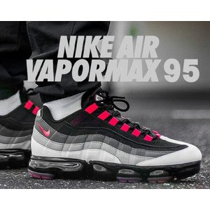 new arrival fca47 6ae64 ナイキ エア ヴェイパーマックス 95 NIKE AIR VAPORMAX 95 white/hot red-dk pewter スニーカー  エアマックス 95 グラデーション