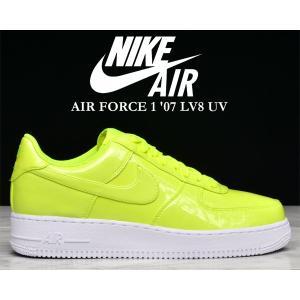 ナイキ エアフォース 1 ロー UV NIKE AIR FORCE 1 '07 LV8 UV volt/volt-white-wht LOW メンズ スニーカー AF1 ボルト イエロー パテント 蛍光 ネオン|ltd-online