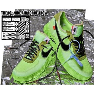 ナイキ エアフォース1 オフホワイト THE 10 : NIKE AIR FORCE 1 LOW OFF-WHITE volt/black-volt-cone THE TEN AF1 ボルトイエロー  VIRGIL ABLOH ao4606-700|ltd-online
