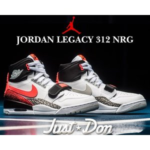 ナイキ エアジョーダン レガシー 312 NIKE AIR JORDAN LEGACY 312 NRG JUST DON white/hot lava-black-zen greyスニーカー AIR TECH CHALLENGE II DON C|ltd-online