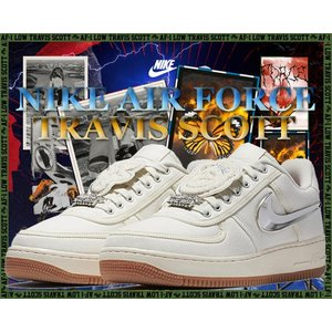 ナイキ エアフォースワン トラビス スコット NIKE AIR FORCE 1 LOW TRAVIS SCOTT aq4211-101 sail/sail-gum light brownスニーカー AF1 LOW AF-100|ltd-online