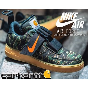 ナイキ エアフォース 1 UT カーハート NIKE AIR FORCE 1 UT LOW PRM CARHARTT WIP camo green/total orange スニーカー AF1 ユーティリティ UTILITY カーハート|ltd-online