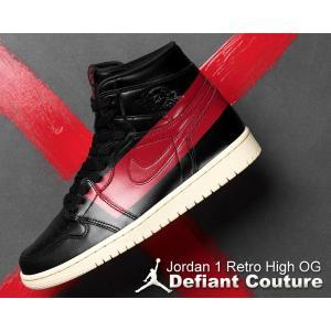 NIKE AIR JORDAN 1 HIGH OG DEFIANT black/gym red-mu...