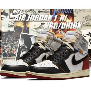 NIKE AIR JORDAN 1 RETRO HI NRG / UNION white/black...