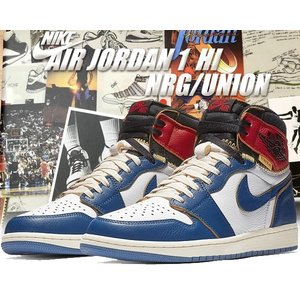 NIKE AIR JORDAN 1 RETRO HI NRG / UNION white/storm...