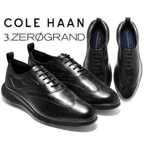 コールハーン  COLE HAAN 3.ゼログランド ウィング オックスフォード COLE HAAN 3.ZEROGRAND WING OX BLACK LTR/TPU/BLK 革靴 軽量 走れる ビジネスシューズ|ltd-online