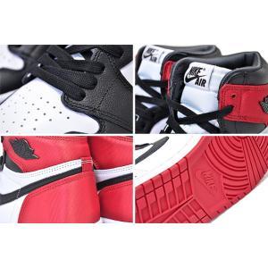 ナイキ ウィメンズ エアジョーダン 1 NIKE WMNS AIR JORDAN 1 HI OG SATIN black/black-white-varsity red スニーカー メンズサイズ つま黒 BLACK TOE サテン|ltd-online|04