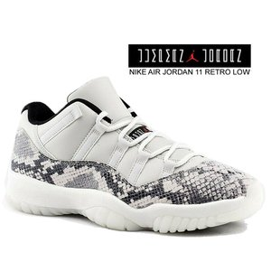 NIKE AIR JORDAN 11 RETRO LOW LE SNAKE light bone/u...