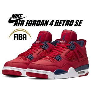 NIKE AIR JORDAN 4 RETRO SE FIBA gym red/obsidian-w...