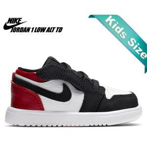 best sneakers 036fe 4b6c6 ナイキ ジョーダン 1 ロー トドラー NIKE JORDAN 1 LOW ALT(TD) white black-gym red ci3436-116  キッズ シューズ スニーカー AJ1 つま黒 10cm〜16cm