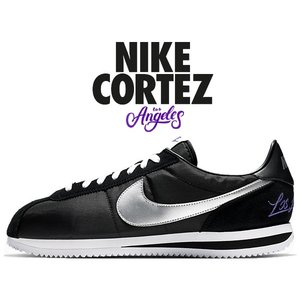 ナイキ コルテッツ ベーシック NIKE CORTEZ BASIC LOS ANGELES black/metallic silver-white ci9873-001 LA スニーカー ナイロン|ltd-online