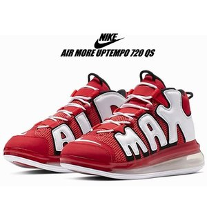 NIKE AIR MORE UPTEMPO 720 QS 2 university red/whit...